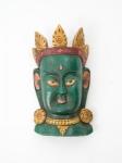 купить Этническая маска Тара 40 см зеленая цена, отзывы