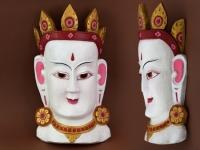 купить Этническая маска Тара 40 см белая цена, отзывы