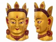 купить Этническая маска Тара 40 см золото цена, отзывы