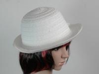 купить Соломенная шляпа Бебе 29 см белая цена, отзывы