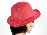 купить Соломенная шляпа Бебе 29 см красная цена, отзывы