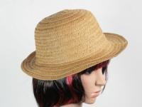 купить Соломенная шляпа Бебе 29 см светло-коричневая цена, отзывы