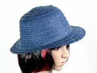 купить Соломенная шляпа Бебе 29 см синий цена, отзывы