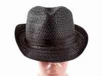 купить Соломенная шляпа Бевьер 28 см черная цена, отзывы