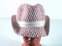 купить Соломенная шляпа Бевьер 28 см красно-белая цена, отзывы