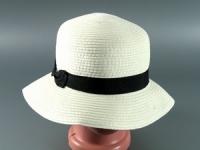 купить Соломенная шляпа Двадцатые 28 см светло-бежевая цена, отзывы