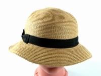 купить Соломенная шляпа Двадцатые 28 см светло-коричневая цена, отзывы