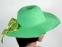 купить Соломенная шляпа Инегал 40 см зеленая цена, отзывы