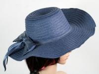 купить Соломенная шляпа Инегал 40 см синяя цена, отзывы