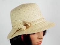 купить Соломенная шляпа Котелок 30 см белая цена, отзывы