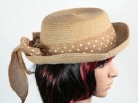 купить Соломенная шляпа Котелок c полями 26 см коричневая цена, отзывы