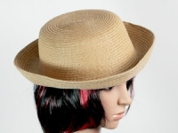 купить Соломенная шляпа Котелок 27 см коричневый цена, отзывы