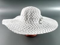 купить Соломенная шляпа Котьир 48 см бело-черная цена, отзывы