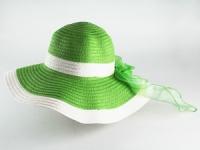 купить Соломенная шляпа Легже 40 см зеленая цена, отзывы