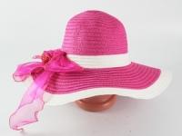 купить Соломенная шляпа Легже 40 см малиновая цена, отзывы
