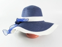 купить Соломенная шляпа Легже 40 см синяя цена, отзывы