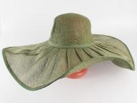 купить Соломенная шляпа Льен 57 см зеленая цена, отзывы