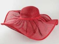 купить Соломенная шляпа Льен 57 см красная цена, отзывы