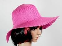 купить Соломенная шляпа Рестлин 40 см розовая цена, отзывы