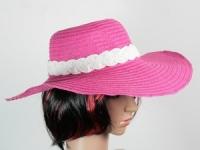 купить Соломенная шляпа Рестлин 40 см розово-белая цена, отзывы