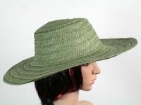 купить Соломенная шляпа Тисаж 42 см зеленая цена, отзывы