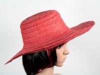 купить Соломенная шляпа Тисаж 42 см красная цена, отзывы