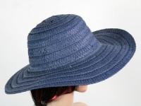 купить Соломенная шляпа Тисаж 42 см синяя цена, отзывы