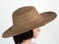 купить Соломенная шляпа Тисаж 42 см темно-коричневая цена, отзывы