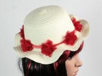 купить Соломенная шляпа детская Флюе 26 см бело-красная цена, отзывы