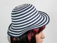 купить Соломенная шляпа детская Энфант 28 см бело-синяя цена, отзывы