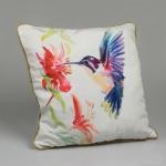 купить Декоративная наволочка Цветочный колибри 40х40 см цена, отзывы