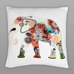 купить Подушка Цветочный слон 45х45 см цена, отзывы