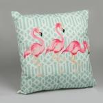 купить Декоративная наволочка Розовый фламинго 45х45 см цена, отзывы