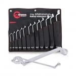 купить Набор накидных ключей 12 шт., 6-32 мм Cr-V, покрытие сатин-хром, PROF DIN3113 INTERTOOL XT-1203 цена, отзывы