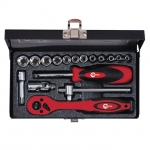 купить Набор инструмента 1-4 дюйма, 17ед (гол. 4-13 мм) INTERTOOL ET-6017 цена, отзывы