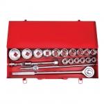 купить Набор инструмента 3-4 дюйма, 20 ед (гол. 19-50 мм) металлический кейс INTERTOOL ET-6024 цена, отзывы