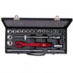 купить Профессиональный набор инструмента 1-2 дюйма, 26 ед. (гол. 8-32 мм) INTERTOOL ET-6027 цена, отзывы