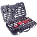 купить Профессиональный набор инструментов 1-2 дюйма и 1-4 дюйма; 82 ед INTERTOOL ET-6082 цена, отзывы