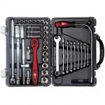 купить Профессиональный набор инструмента 39 ед., 1-2 дюйма, Cr-V INTERTOOL ET-7039 цена, отзывы