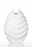 купить Ваза керамическая Изгиб белая 30 см цена, отзывы