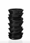 купить Ваза керамическая Виток черная 24 см цена, отзывы