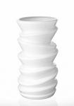 купить Ваза керамическая Виток белая 25 см цена, отзывы