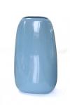 купить Ваза глянцевая овальная голубая 32,5 см цена, отзывы