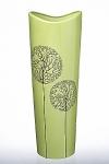 купить Ваза глянцевая Деревья зеленая 39 см цена, отзывы