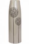 купить Ваза глянцевая Деревья бежевая 38 см цена, отзывы