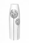 купить Ваза глянцевая Деревья белая 38 см цена, отзывы