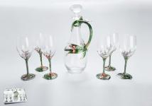 купить Набор графин и 6 бокалов Орхидея цена, отзывы