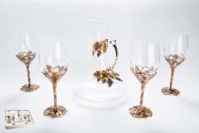 купить Набор винный Виноград декантер графин и 4 бокала цена, отзывы