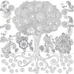 купить Обои раскраска  Сказочное Дерево 60х60 цена, отзывы