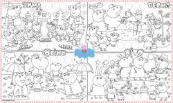 купить Обои раскраска Свинка Пеппа+Наклейки 60х100 цена, отзывы